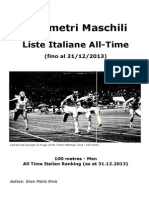 Liste Italiane All Time 100m
