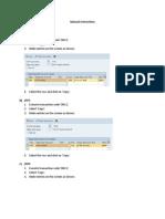 ECR Manual Steps
