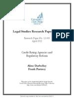 A. Darbellay, F. Partnoy - Credit Rating Agencies and Regulatory Reform [2012]