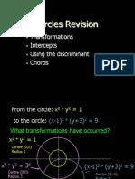 Circles Revision