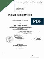 Notice sur le cabinet numismatique de l'Université de Leyde / par P.O. van der Chijs
