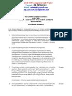AssignmentQP MBA Sem4 Maintenance Management OM0015 Summer2013