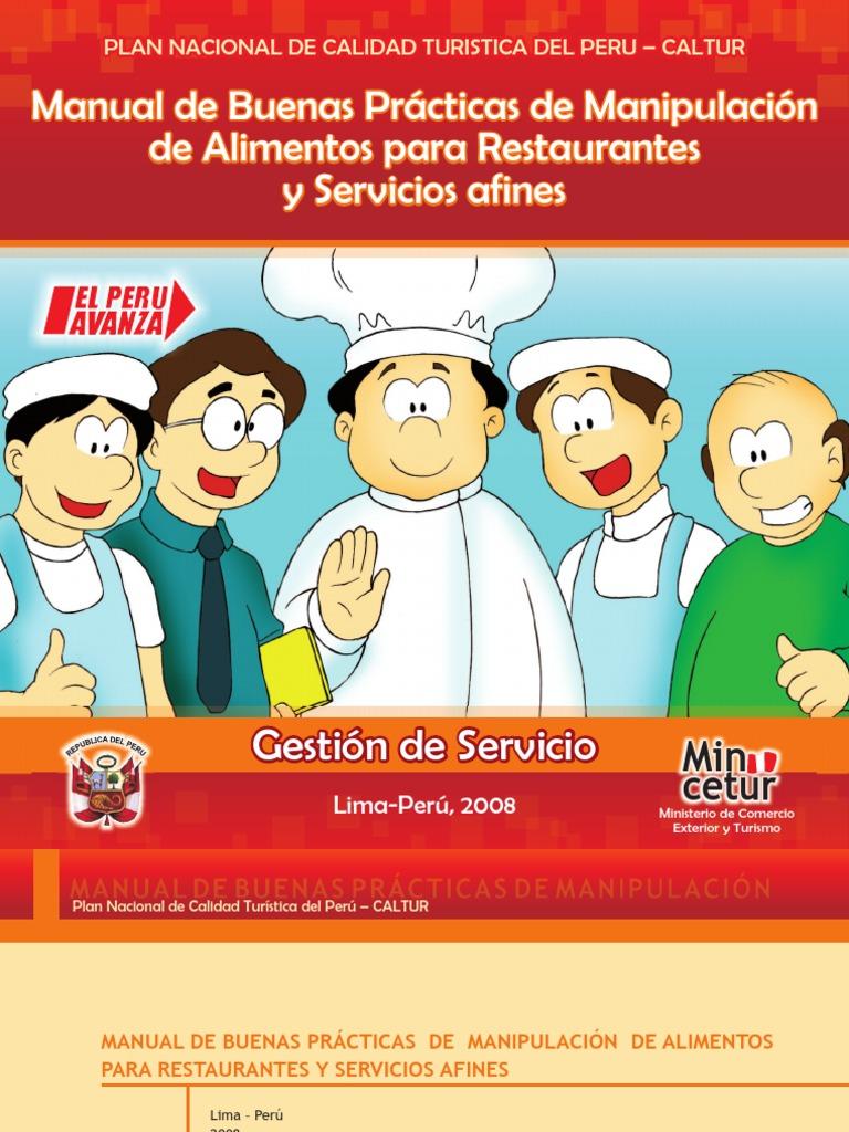 Manual de buenas practicas de manipulacion de alimentos Manual de compras de un restaurante pdf