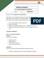 Roteiro de Estudo - Matemática PT 2