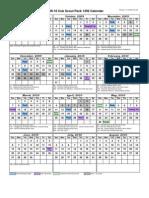 2009-10 Cub Scout Pack 1292 Calendar 10-26-09