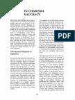Weber on Charisma and Bureaucracy