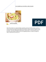 Ravioles en Salade Au Concombre