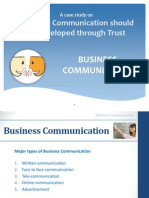Effective Communication should be developed through Trust