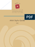 American Anthropological Association 2009 style guide