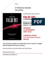 Presentazione di FALSI DEI alla Koob, Roma, 13 dicembre 2013.