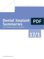 Dental Implant Summaries++++