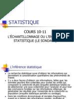 Cours 10-11 L'Echantillonage