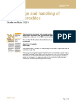The storage and handling of organic peroxides Guidance Note CS21