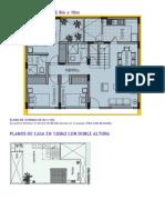 Plano de Vivienda de 8m x 10m