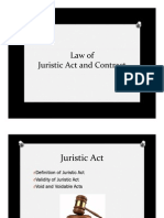 Law of Juristic Act and Contract