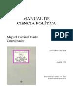 CAMINAL BADIA. La política como ciencia