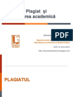 Seminar Plagiat, Citare Si Bibliografie - 2014