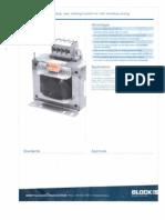 EspecificacionesTransformador de Prensa Hidraulica