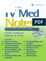 IV Med Notes Nurse Clinical Pocket Guide Davis Notes