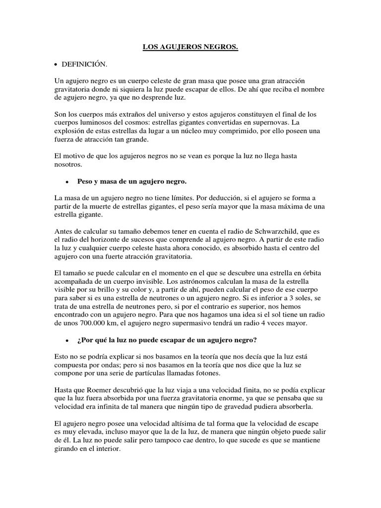 Encantador Anatomía Agujero Negro Colección de Imágenes - Imágenes ...