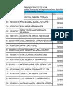 Listado Preinscritos Convenio Sena-Ises Abril 2014