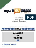 AEP2011 - Portugua¦Çs para Concursos (G&T) - AULA 12 a 15 - AnÔÇálise de Textos 2