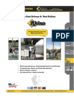 Rhino Pneumatic Post Drivers & Pullers