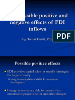 The Possible Positive and Negative Effects of FDI(1) -