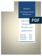 Advertising Response Models