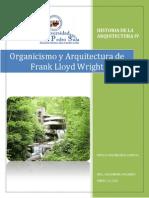 Organicismo y Arquitectura Frank Lloyd Wright