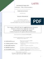 GRALEPOIS_Les Risques Collectifs Dans Les Agglomerations Francaises_contiurs Et Limites d Une Approche Territoriale