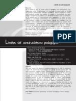 Limites Del Constructivismo Pedagogico