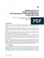 InTech-Design and Use of a Fatigue Test Machine in Plane Bending for Composite Specimens and Bonded Joints