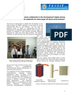 Chinese and Danish teams collaborate in the development highly strong and reliable composite materials for extra large off-shore wind turbines