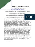 The Best Monetary Insurance