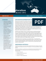 Australia Mineral Exploration Review 2012