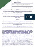 Código Penal e Legislação Extravagante sobre os tipos penais relativos ao Servidor