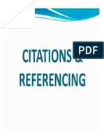 Citations Referencing Slides