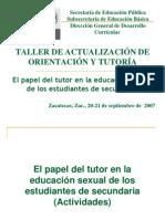 2 Papel Del Tutor en La Sexl.