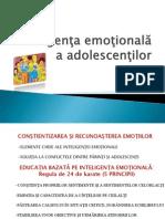 Inteligenţa emoţională a adolescenţilor