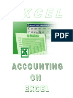 Accounting on EXCEL