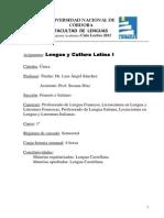 Lengua y Cultura Latinas I Sanchez