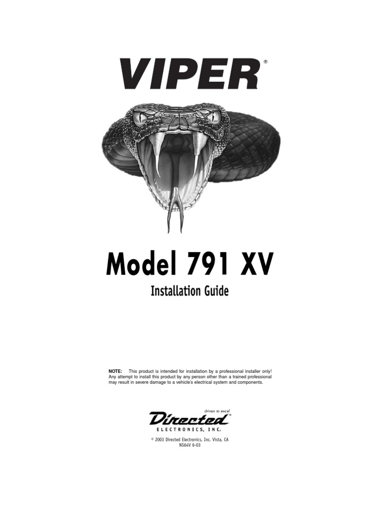 Viper 791 Vx Wiring Diagram Explained Diagrams 5701 2008 Subaru 791vx Installation Manual Ignition System Switch