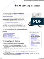 Speech Outline Examples
