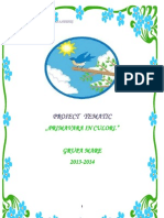 Proiect Tematic Salutare Primavara Timp Frumos Bine Ai Venit