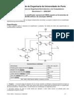 Projecto e Desenho de Um Amplificador Operacional CMOS Usando as Ferramentas De
