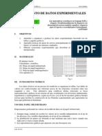 2.Tratamiento de Datos Experimentales