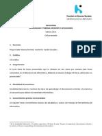 Programa 2013 Desigualdad y Pobreza. Mediciones y Aplicaciones