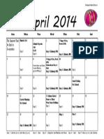 april calendar 2014 1