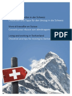Checklist Living and Working in Switzerland